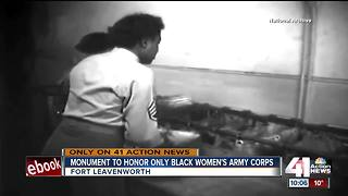 Monument to honor only black women's Army Corps - Video