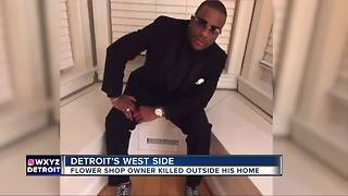Flower shop owner killed outside his Detroit home - Video