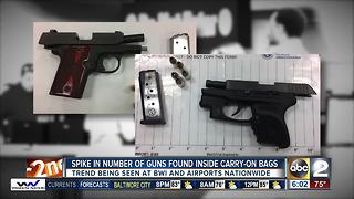 BWI reports spike in number of guns found inside carry-on luggage - Video