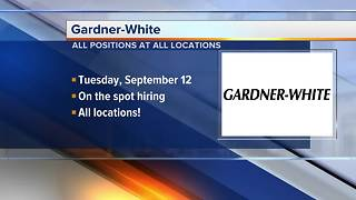 Gardner-White holding job fair at all locations on Sept. 12 - Video