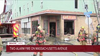 Three Alarm fire on Massachusetts Avenue