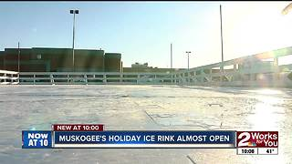 Holiday ice rink moves to downtown Muskogee this season - Video