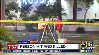 Person hit, killed in west Phoenix