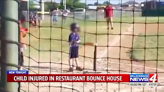 Mom Runs to Bounce House When She Hears Her Son Screaming. His Arm Is Dangling from a Metal Hook - Video
