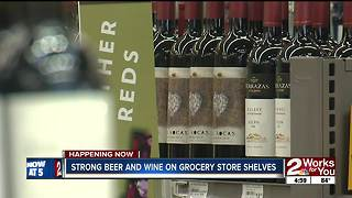 Strong beer, wine on grocery store shelves