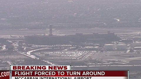 Flight from McCarran forced to turn around