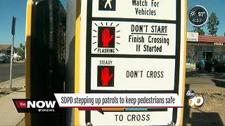 San Diego Police stepping up patrols to keep pedestrians safe - Video