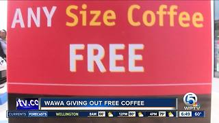 Wawa giving away free coffee today to celebrate their anniversary