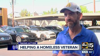 Helping a homeless veteran