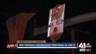 Kansas City to activate new traffic signal, crosswalk on 63rd Street in Brookside - Video