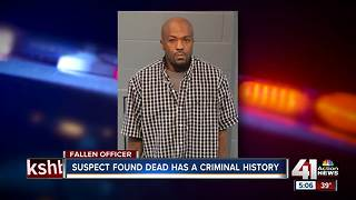 Suspect in deadly officer shooting has criminal history