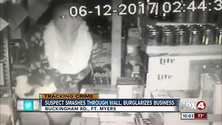 A Burglar Smashes Through a Wall, Breaks Into a Business - Video