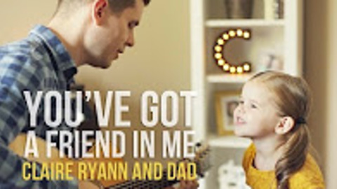 Three-Year-Old Claire Ryann And Dad Perform 'You've Got A Friend In Me'