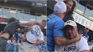 Tennessee Titans Fans Get into BLOODY Fight During Scrimmage - Video