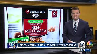 Beef meatballs shipped to Florida recalled