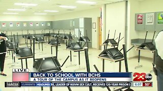 A Look Inside BCHS' Converted Classroom Ahead of School Reopening