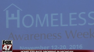 Homeless rate drops 6-percent in Michigan - Video