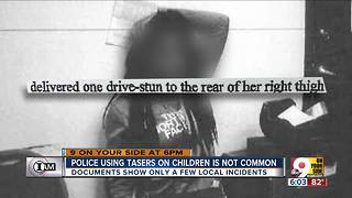 How often do our officers use Tasers on children? - Video