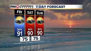 Rain Chances Will Be A Bit Higher This Weekend 9-28 - Video