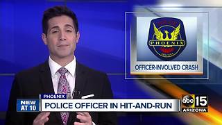 Suspect arrested after hit-and-run involving Phoenix officer - Video