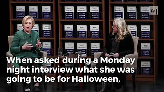 Hillary Clinton Says She Might Dress as 'President' for Halloween - Video
