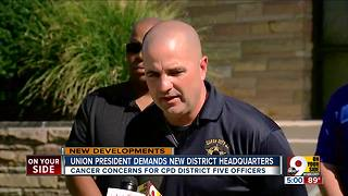 Police union president demands new district headquarters - Video