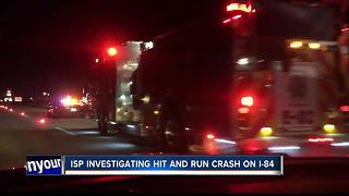 Hit-and-run crash on I-84