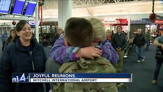 Families reunite for Thanksgiving at Mitchell Airport - Video