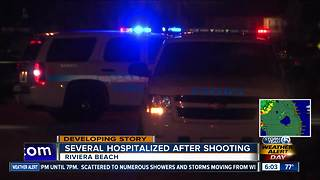 Several people shot Sunday night in Riviera Beach - Video