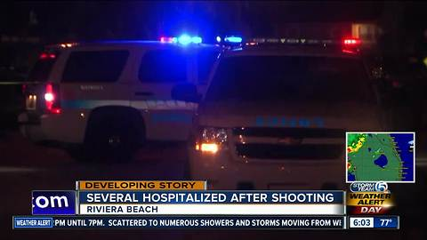 Several people shot Sunday night in Riviera Beach
