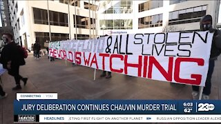 Jury deliberation continues in Chauvin murder trial