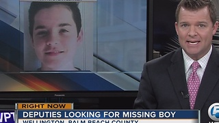 Deputies looking for missing boy - Video