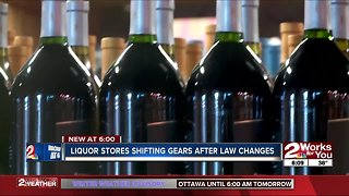 Liquor stores shifting gears after law changes