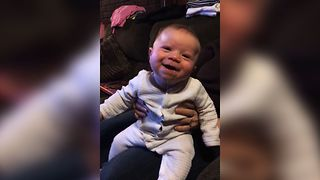Baby Can't Stop Giggling