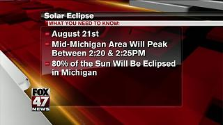 What to expect in Mid-Michigan during total solar eclipse - Video