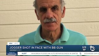 Jogger shot in face with BB gun in University City