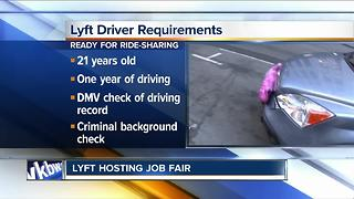 Lyft hosting job fair - Video