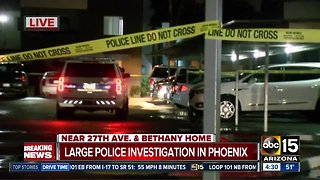 Police investigating two shootings in Phoenix overnight.