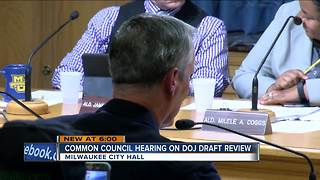 Common Council holds public hearing on DOJ draft report - Video
