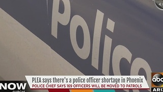 Phoenix police chief says there is an officer shortage - Video