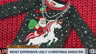 One ugly Christmas sweater costs $30,000 - Video