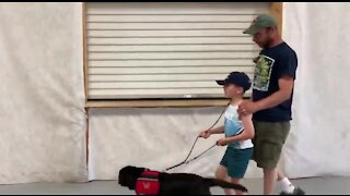Miracle Flights helps boy get service dog in Las Vegas