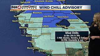 Wind Chill Advisories for SWFL - Video