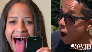 Woman Claims She Has The Longest Tongue In The World, Footage Grosses Many Out - Video