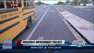 Broadway Improvement Project begins today