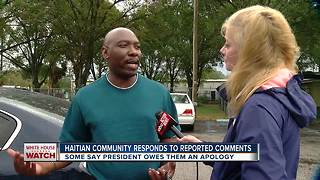 Haitian community responds to reported comments