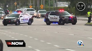 Boynton Beach officer struck by car while chasing suspect in serious condition