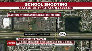 Broward Sheriff says 14 victims in high school shooting - Video