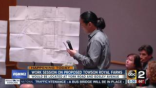Work session on proposed Towson Royal Farms