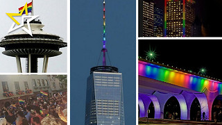 Cities All Across The World Show That 'Love Wins' Through Their Tributes For The Orlando Victims - Video